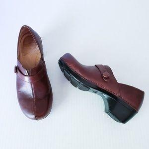 Dansko Solstice Brown Distressed Leather Clogs